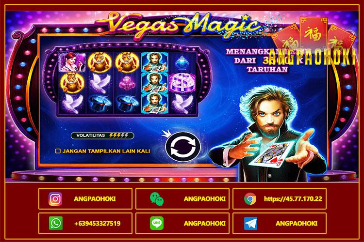 Cara Bermain Slot Online Vegas Magic Pragmatic Play di AngpaoHoki