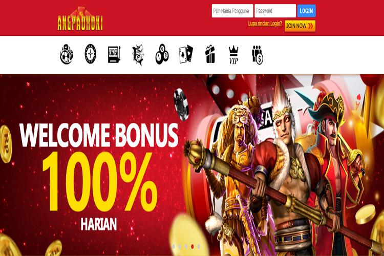Welcome Bonus 100% Slot Online Klaim Setiap Hari di Situs AngpaoHoki